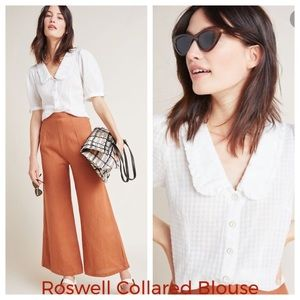 Anthropologie Maeve Roswell Collared Blouse NWT